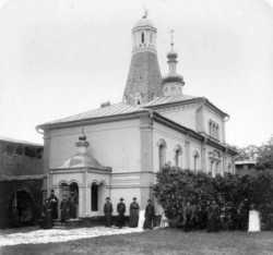 Церковь прп. Александра Свирского Московского Симонова монастыря. Фото с западной стороны
