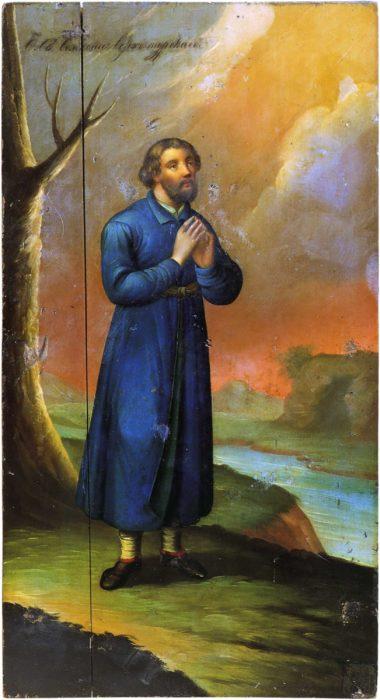 икона Симеон Верхотурский в молении