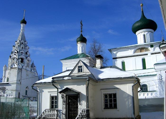 Церковь Рождества Христова, в деревянной предшественнице которой укрывали Икону Казанской Богоматери в Смутные времена