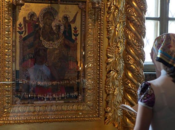 """икона """"Всецарица"""" в Новопасском монастыре фото"""