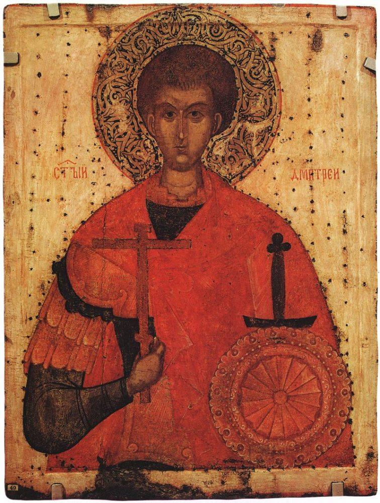 Святой великомученик Димитрий Солунский. XV век, Псков. Русский музей
