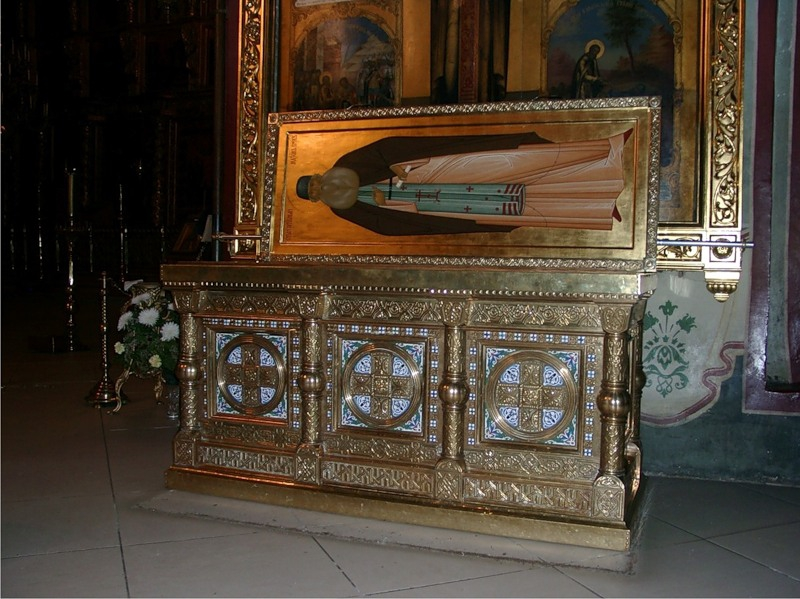 Рака с мощами Максима Грека. Успенский собор, Троице-Сергиева лавра