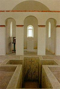 Интерьер крестильной церкви.