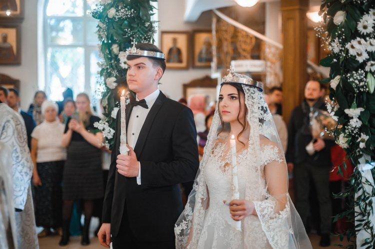 Трогательная церемония венчания