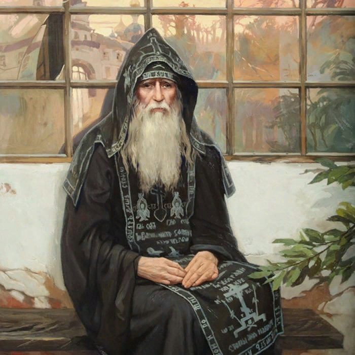 Оптинский старец Иоасаф на картине Сайды Афониной