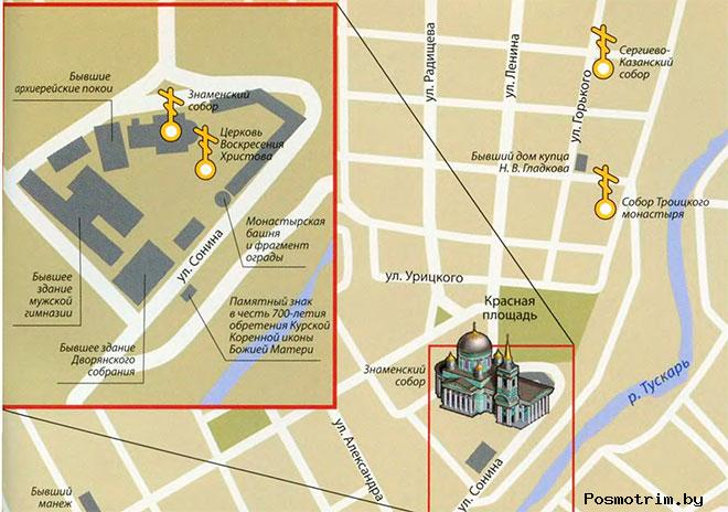 Знаменский собор Курска расписание богослужений контакты как добраться расположение на карте