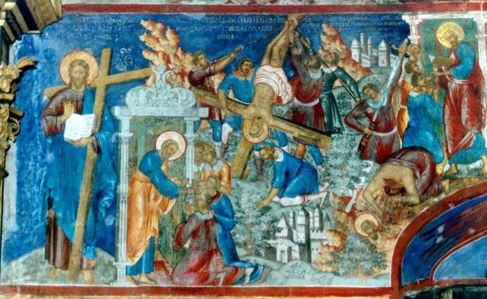 """Сюжет """"Смерть апостолов"""" в росписи Рождественского храма"""