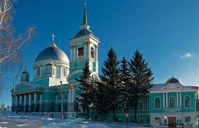 Строительство Знаменского собора в Курске