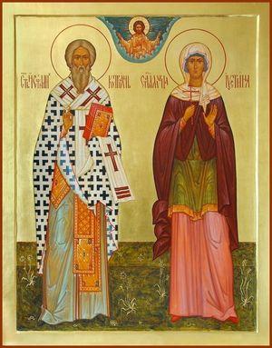Икона Киприан и Устинья