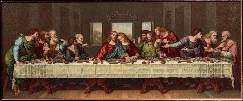 Тайная вечеря. Монументальная роспись работы Леонардо да Винчи