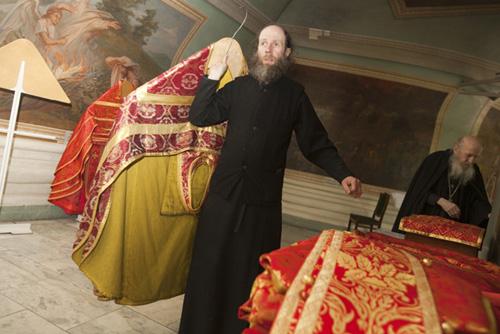 В ризнице монастыря. Донской монастырь
