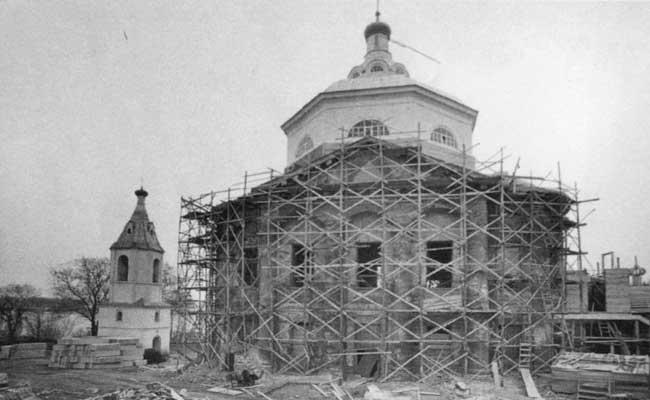 Воронеж, Алексеево-Акатов монастырь, реставрационные работы