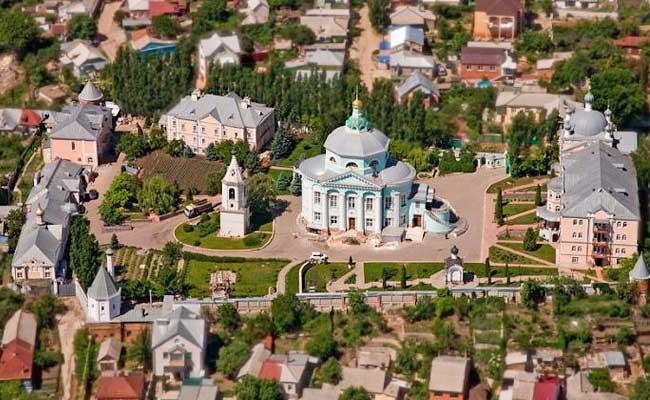 Алексиево-Акатов монастырь, Воронеж, вид сверху