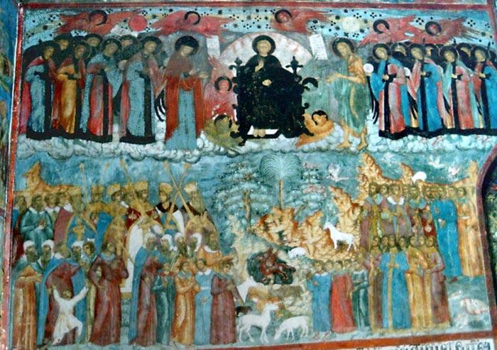 Сцена из храмовой росписи - Всякое дыхание да хвалит Господа