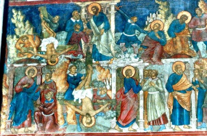 Сюжеты Деяний апостолов в росписи Рождественского храма