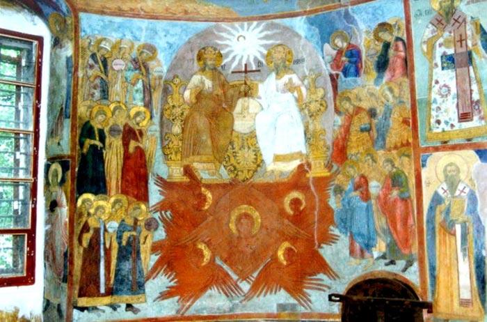 Сцена Вознесения Богоматери в Рождественском храме