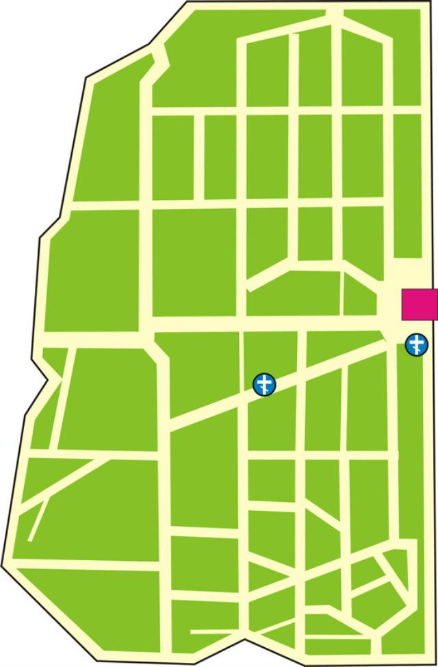 Даниловское кладбище: план-схема
