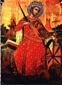 Святая великомученица Екатерина. Икона Синайского монастыря.