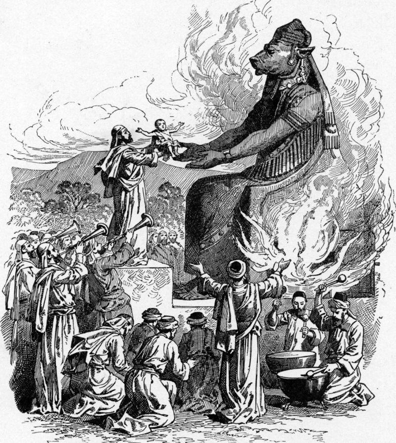Из-за ошибки перевода появилась вера в бога Молоха, даже изображения его статуи. Но никакого Молоха не существовало и к удаче он отношения не имел