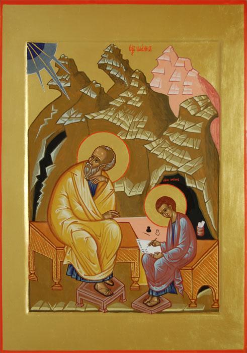 Апостол Иоанн Богослов и Прохор