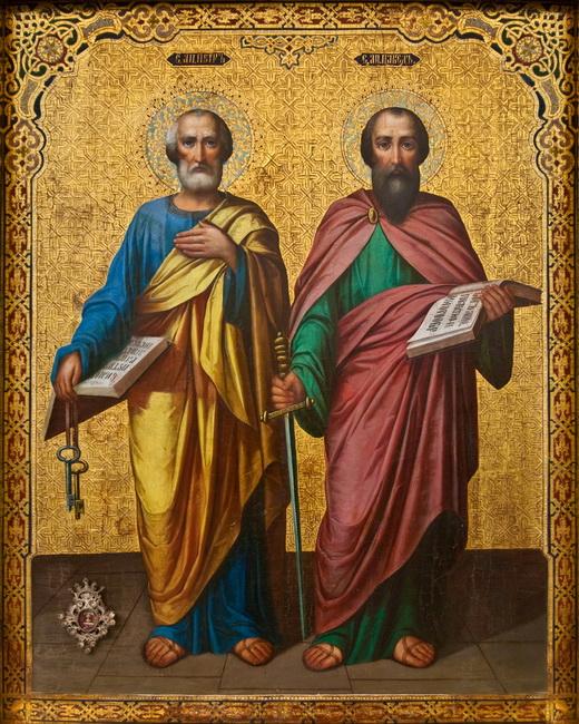 Икона святых апостолов Петра и Павла