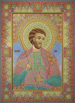 Икона Святого мученика Иоанна Воина, иконописец Юрий кузнецов