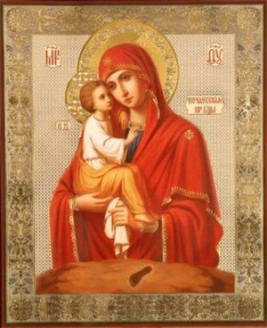 Икона божьй матери - ручная работа