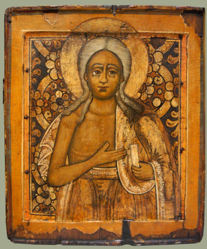 Икона «Св. Мария Египетская». Середина XVIII века. Русский Север.