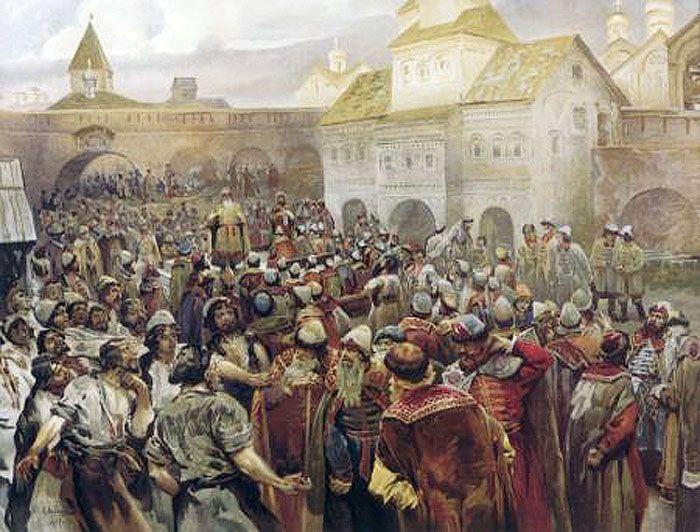 Лебедев К.В. Вече в Новгороде. 1917 год. Великий Новгород был боярской республикой, и князь в город призывался лишь по нужде. В его отсутствие городом управляли посадники, которым и был Остромир.