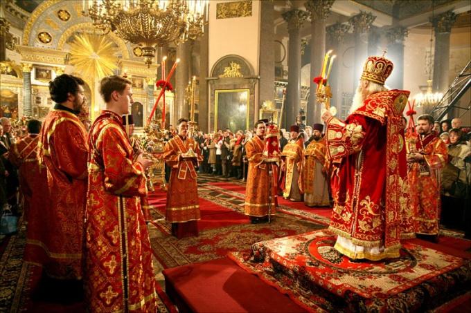 Христианское богослужение в церкви