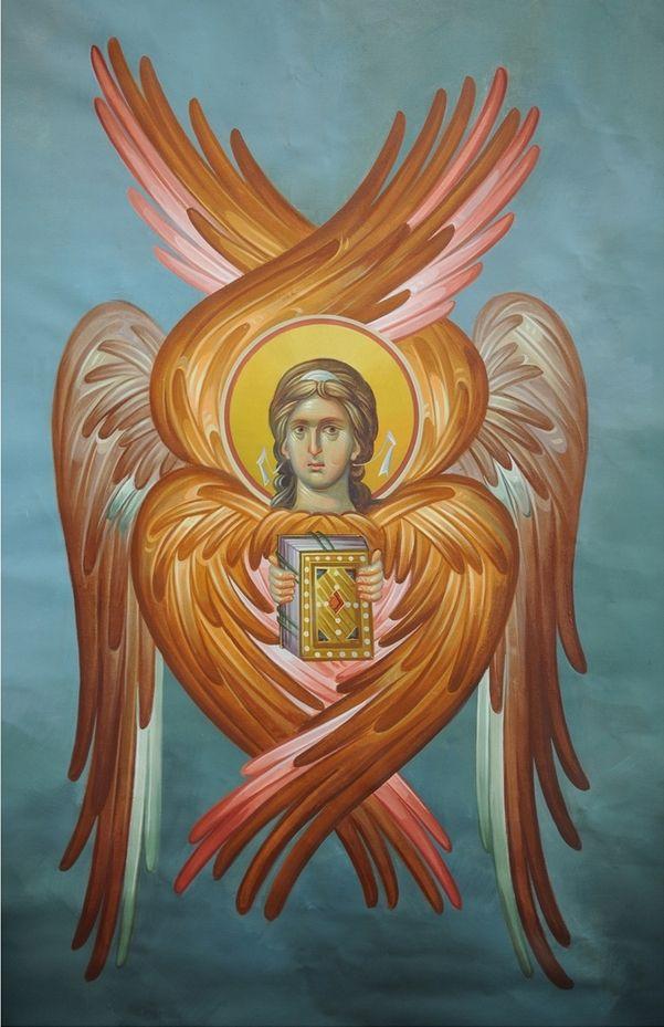 На изображениях, Херувимы, также как и Серафимы изображаются с человеческим лицом и крыльями и шестью крыльями