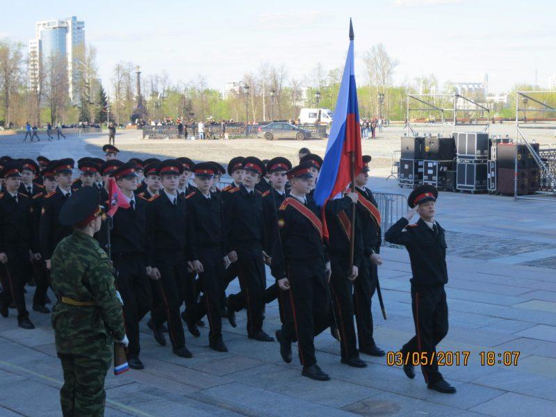 Воспитанники кадетского корпуса, для которого построили храм Владимира Равноапостольного