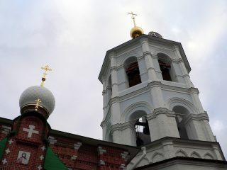Николо-Пешношский монастырь в Луговом, церковь Сергия Радонежского, колокольня