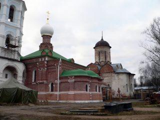 Николо-Пешношский монастырь в Луговом, церковь Сергия Радонежского, собор Николая Чудотворца