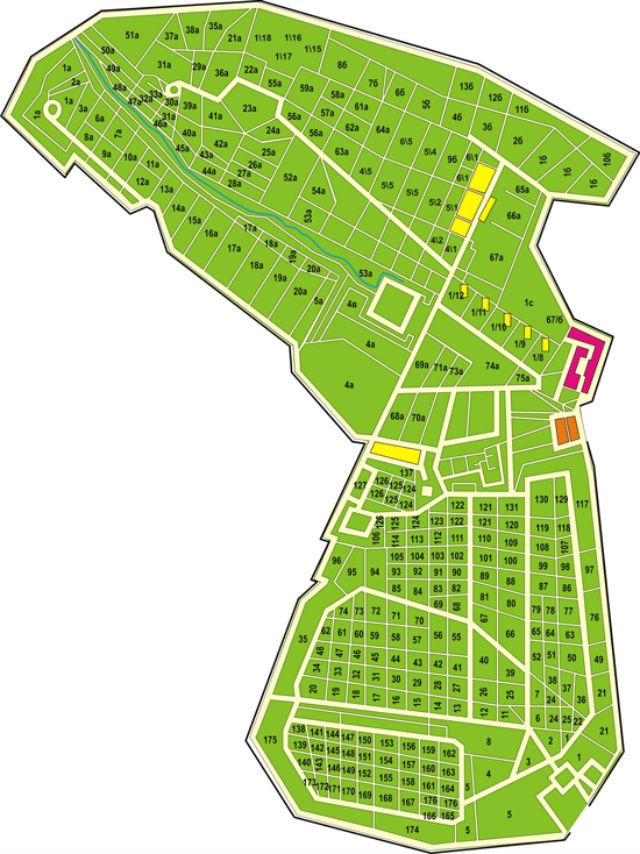Схема Николо-Архангельского кладбища