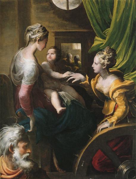 Святая великомученица Екатерина. Мистическое обручение святой Екатерины. Пармиджанино, 1503-1540
