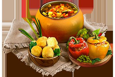 Монастырский устав: горячая пища без масла.