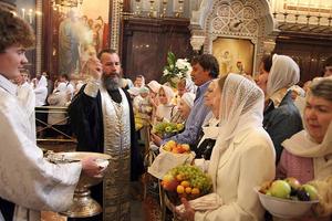 Преображение Господне празднование в церквях