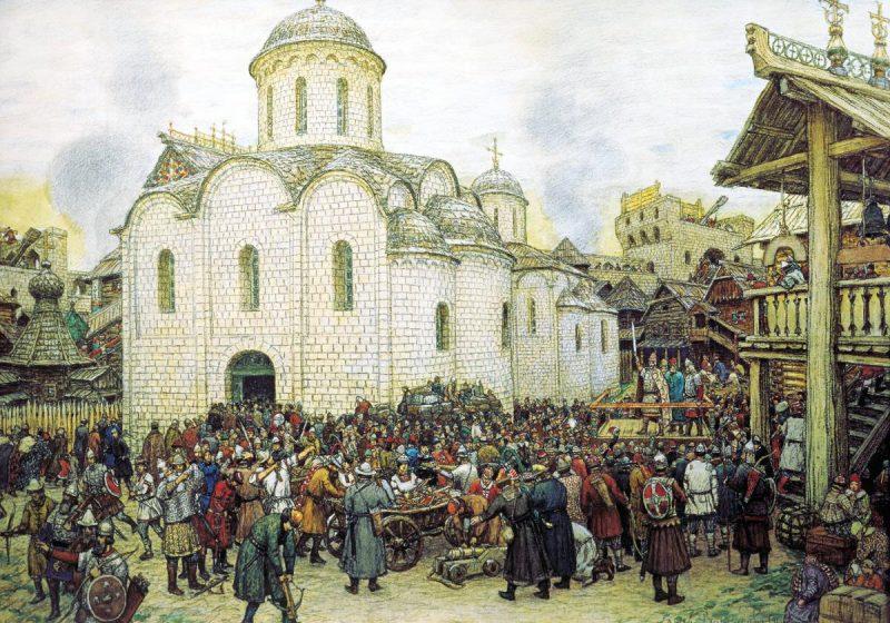 Хан Тохтамыш осаждает Москву